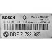 ECU Calculator Motor Bmw 318D DDE7792025 0281011411 EDC16C1 E46