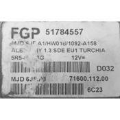 ECU Calculator Motor Fiat Doblo 1.3JTD 51784557 6JF.A1 {