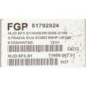 ECU Calculator Motor Fiat Strada 1.3JTD 51792924 6F3.S1 HW03R {