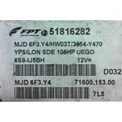 ECU Calculator Motor Lancia Y 1.3JTD 51816282 6F3.Y4 {