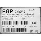 ECU Calculator Motor Fiat Punto 1.3JTD 55186613 6JF.P6 {