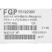 ECU Calculator Motor Fiat Idea 1.3JTD 55192090 6JF.M1 {