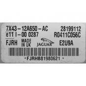 ECU Calculator Motor Jaguar X-Type 2.0 7X43-12A650-AC E2U9A {