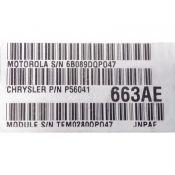 ECU Calculator Motor Jeep Grand Cherokee 2.5 P56041663AE {