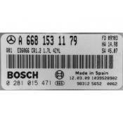 ECU Calculator Motor Mercedes Vaneo 1.7CDI A6681531179 0281015471 CR1.2 EDC15C0