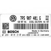 ECU Calculator Motor Porsche Cayenne 3.0TDI 7P5907401G 0281018310 EDC17CP44 {