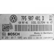 ECU Calculator Motor Porsche Cayenne 3.0TDI 7P5907401D 0281017906 EDC17CP44 {