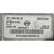 ECU Calculator Motor Ssangyong Korando 2.0D 6715400032 28283968 DCM3.7AP {