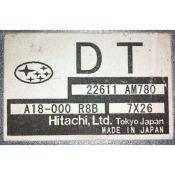 ECU Calculator Motor Subaru Impreza 2.0 22611AM780 DT {