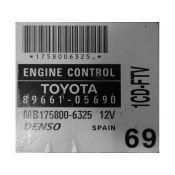 ECU Calculator Motor Toyota Avensis 2.0 89661-05690 MB175800-6325 {
