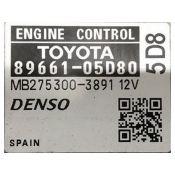 ECU Calculator Motor Toyota Avensis 1.8 89661-05D80 27530-03891 {