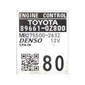 ECU Calculator Motor Toyota Auris 1.3 Hibrid 89661-0Z800 27550-02631 {