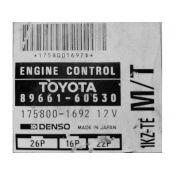 ECU Calculator Motor Toyota Land Cruiser 3.0TDI 89661-60530 175800-1692 {